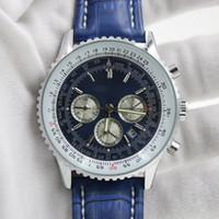 Wholesale Mm Specials - Free shipping-Luxury watch men Stylish automatic Mechanics chronometre watch Certifie Editon Special Blue strap 1884 Bre B13356 mens watch