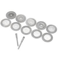 Wholesale Rotary Wheels - 10Pcs Lot 16mm Diamond Cut Off Disc Wheel Rotary Tool Two Mandrel Arbor VE619 P0.32