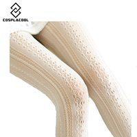 Wholesale Wholesale Hollow Knee Boots - Wholesale- [COSPLACOOL]2016 Fashion Women Pantyhose Stocking Lace Sexy Personality Hollow out Knee Boots Fitness Tights Female