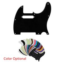 Wholesale Electric Guitar Scratch Plates - Scratch Plate Standard Size 3 Ply White Pickguard for Tuff Dog Tele Telecaster Electric Guitar Multi Colors 3Ply Aged Pearloid Pickguard