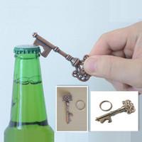 Wholesale Decorative Household - Bottle Opener Keychains Household Novelty Mini Metal Key Beer Bottle Opener Coca Can Opening tool Unisex Decorative Keychain Gift