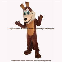 Wholesale Real Animals Dogs - High quality carnival adult brown dog mascot costume free shipping,Real pictures deluxe party the animal wolf mascot costume factory direct