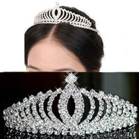 Wholesale crown combs - Fashion Crystal Gorgeous Shiny Bridal Tiaras Crown Wedding Dresses Hair Wedding Accessories Free Shipping High Quality