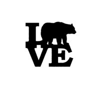 Wholesale Grizzly Bear Cartoons - Wholesale New Cute wild animals Grizzly Bear Love Sticker For Car Window Truck Bumper Auto SUV Door Kayak Vinyl Decal 8 Colors car styling