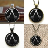 Wholesale assassins creed necklaces for sale - Group buy 10pcs Assassins creed Inspired Glass Photo Necklace keyring bookmark cufflink earring bracelet