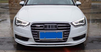 Wholesale Grille Set - 1 set Stainless steel Car Front Grille decorative cover trim strips for Audi A3 Sedan Hatchback 2014-16 Car styling decals