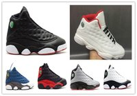 Wholesale Womens Ivory Boots - Cheap Retro 13 XIII PLAYOFFS HISTORY OF FLIGHT Cherry Chicago Basketball Shoes womens Sports Trainers Boot Athletics Men Sneaker Footwear