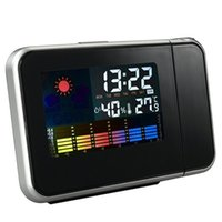 Wholesale Clock Radio Weather - led Redcolourful Digital LED Despertador Weather Temperature Display Desktop LCD Snooze Alarm Clock Backlight-20