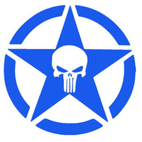 Wholesale roof signs - Punisher Military Army Star Serious Eye-catching Signs Car Sticker Truck Window Bumper Door Laptop Kayak Vinyl Decal car styling Jdm