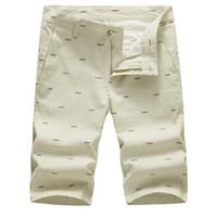 Wholesale Stylish Casual Pants - New Fashion Mens Linen Shorts Summer Men Shorts Homme Stylish Print Casual Beach Shorts Men Short Pants 28~40