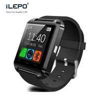u8 интеллектуальный вызов ответа на вызов оптовых-U8 Bluetooth smart watch ответ на вызов сенсорный экран wirst часы для android телефонов iPhone 4 4S 5 5S 6 6S 6 plus Samsung edge HTC