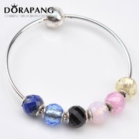 Wholesale Multicolor 925 Sterling Silver - DORAPANG Top Quality 925 Sterling Silver Bead Charm With Multicolor Black Spinel Beads Fit ESSENCE Bracelet Bangle Diy Jewelry E1016-1020