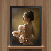 Wholesale Oil Painting Canvas Body - Creative 5D Needlework Diy Diamond Painting Top Quality Nude painting of human body art For Home Decoration Direct Factory Preice