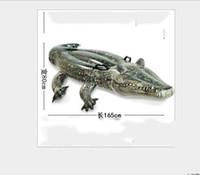 schwimmen krokodil spielzeug großhandel-Mode Neue Aufblasbare Krokodil Getränkehalter Tier Getränkehalter Freibad Kiddie Spielzeug Wasser Schwimm Partydekorationen Schwimmt