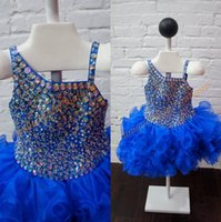 Wholesale Toddler Bodice - Toddler Pageant Dresses 2017 New Arrival with Lace Up Back and Major Beading Bodice Real Pictures Bling Bling Little Girls Pageant Dress