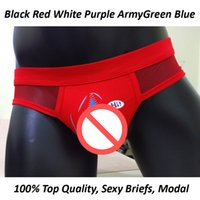 Wholesale Short Mesh Boxer Briefs - Mesh Boxers men shorts Sexy Underwear Bird Men Modal Healthy Panties Male 100% Underpants man underwear solid comfy trunk Transparent briefs