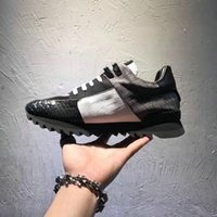 Wholesale Stoned Shoes - High Quality Men's Casual Shoes Skull Lepord Stone pattern Mesh Lace Up Sneakers Lace Up Mesh Breathable Footwear With Box,Size:38-44
