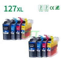 Wholesale Compatible Ink Cartridges - 8 Pack Ink Cartridges LC127 LC125 Compatible for Brother MFC-J4410DW J4710DW J6920DW J6720DW J4510DW J4610DW J6520DW Printer