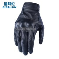 Wholesale Driver Gloves - Wholesale- Di byron motorcycle riding the motorcycle driver refers to all the men leather gloves vintage Harley hockey touch screen gloves