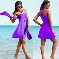 Wholesale Trendy One Piece Swimsuits - Variety Fashion Women Wrapped Chest Skirt 2017 Europe And The United States New Trendy Skirt Swimsuit Beach Skirt With chest Pad