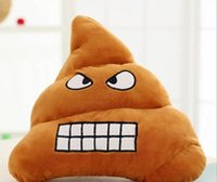 Wholesale Toy Shit - Decorative Cushion Emoji Pillow Gift Cute Shits Poop Stuffed Toy Doll Christmas gift Funny Plush Bolster Pillows 50pcs