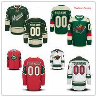 Wholesale Cheap Wild Hockey Jerseys - Stitched Custom Minnesota Wild mens womens youth home Customized Red White Green Stadium Series Personalized ice Hockey cheap Jerseys S-4XL