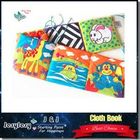 Wholesale Baby Toy Mirrors - Kids Mirror Animal Bed Cognize Cloth Book Infant Baby Toy Cute Popular Unfolding Activity Books Cute Animals Kids Toys