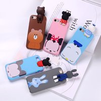 Wholesale Shell Duck - For iPhone 6S 6Plus 7 7Plus Coque Mickey Minnie Donald Duck Bear Judy Hoopes Rabbit Cartoon Case For iPhone 6 6S 7 Shell