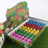 Wholesale movie inflation - Novel Water Hatching Inflation Dinosaur Egg Watercolor Cracks Grow Egg Educational Toys Interesting Gift free shipping TY2085