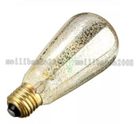 Wholesale Carbon Filament - Super bright Vintage Edison Bulbs E27 Spraying Incandescent ST64 Filament Bulb Squirrel-cage Carbon Bulb Retro Edison Light MYY