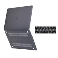 13 inç lastik kaplı macbook çantası toptan satış-Macbook Pro 13 inç için Kauçuk Hard Case ve klavye kapağı (YENİ VERSİYONU - Sürüm Ekim 2016) Touch Bar Touch ID ile / olmadan