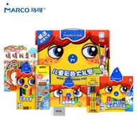 Wholesale Marco NEW Artist Children Pencil Gift Box Colour Pencils Art Drawing Oil Base Pastels Colored Pencils Watercolor Pen Sets of Gift Boxes