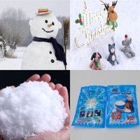 Wholesale Christmas Eve - Christmas Decoration Instant Snow Magic Prop DIY Instant Artificial Snow Powder Simulation Snow For Christmas Eve C3128