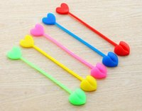 Wholesale Heart Shaped Plastic Bag - HOT Multi-functional bag clips plastic Sealing food clamp Snacks clip folding silicone food closure heart shape Radom Color TOP1764ZZ