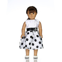 Wholesale 18 American Doll Clothes Wholesale - Dolly skirt American Christmas girl Gifts For Children Girls Doll Accessories Fashion Dress For 18'' American Girl Dolls Clothes 8 5zk G1