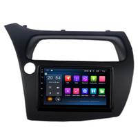 "Wholesale Civic Mirrors - 7"" Touch Screen Andorid 6.0.1 System Car DVD Stereo For Honda Civic Hatchback 2006-2011 GPS Radio RDS Mirror Screen OBD DVR 2G RAM 32G RAOM"