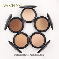 Wholesale Powder Plus - Dropshipping 2017 New Hot Makeup Studio Fix Powder Plus Face Foundation With Puff 15g 8 Colors Face Pressed Powder Free Shipping Cosmetics