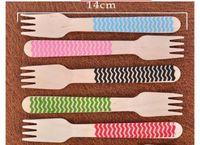 Wholesale Chevron Wooden Forks - Wholesale-Multicolor Chevron Stripe Polka Dot Wooden forks Utensils for Wedding Centerpieces Party Decorations Baby Shower 50 Pcs