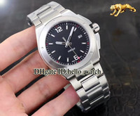 Wholesale Auto Earth - Super Clone Luxury Ingenieur Family Automatic Mission Earth IW323604 Black Dial Mens Watch SS Band Sapphire Glass Brand Gents New Watches