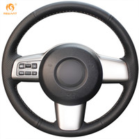 Wholesale Mazda Steering Wheel Covers - Mewant Black Genuine Leather Car Steering Wheel Cover for Mazda 2 2009-2012