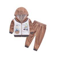 baby-set kleidung jungen groihandel-2017 Kinder Outfits Kinderkleidung Baby Kleidung Kind Anzug Kind Gament Jungen Set Habiliment Mädchen Bekleidung Samt Kostüm Outfits