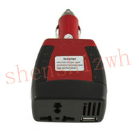 Wholesale Inverter 12v Usb - DC 12V to 110V 220V AC 150W car inverter USB 500mA mini-inverter For car cigarette lighter car charger for cellphone laptop lighter etc.
