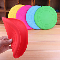 Wholesale Soft Flying Disc Dogs - Soft Silicone Flying Disc Dog Outdoor Training Fetch Toy Frisbee