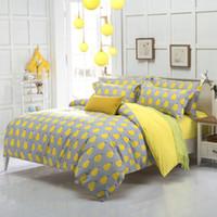 gelbe königin bettwäsche großhandel-Cute Yellow Pear Fruit Bettwäsche Set Kids Bettbezug Bett Set Single Double Queen Size Bettwäsche Bettlaken 4pcs Bettwäsche