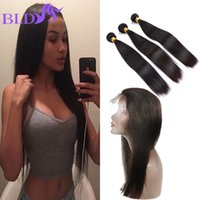 Wholesale Hair Extensions Wholesale India - Hot Sale 360 Lace Frontal With Bundles Straight India Human Hair 360 Closure With Bundles Cheap Hair Extensions