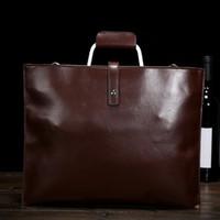 Wholesale High Quality Bag Korea - Wholesale- High quality Japan, South Korea men brown bag Crossbody messenger bag formal business briefcase handbag XY310