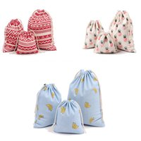 Wholesale Drawstring Cotton Pouch - Wholesale-15 styles 3 Size Printing Ulrica 2016 New Arrival Gift Bags for Men Women Cotton Canvas Pouch Drawstring Candy Bags Gift Bags