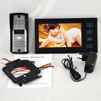 teléfono de la puerta del tacto al por mayor-7 pulgadas TFT de pantalla táctil Color Video de la puerta del teléfono Cmos Night Version cámara de sistema de intercomunicación H461