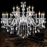 Wholesale Noble Mount - Noble Luxurious Export K9 Clear Crystal Chandelier white chandelier vintage crystal chandelier iron Optional Lustres De Cristal Chandeliers