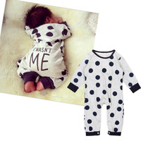 Wholesale Hot Milk Girl - Baby Cute Milk Cow printing Romper ins hot Infants boys girls cute long sleeve outfits 0-2T
